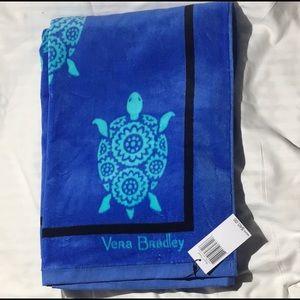 Blanket & towel Vera Bradley marine turtle theme